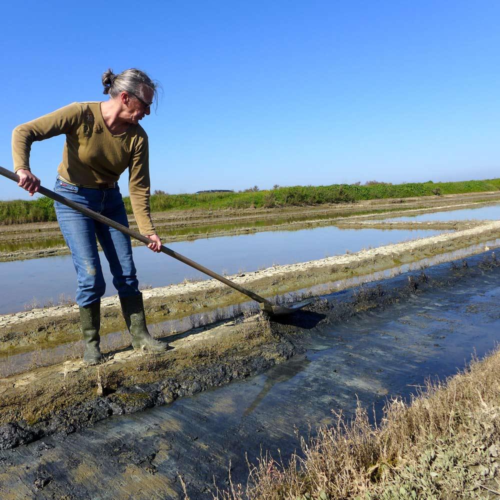 Nettoyage de printemps des marais salants