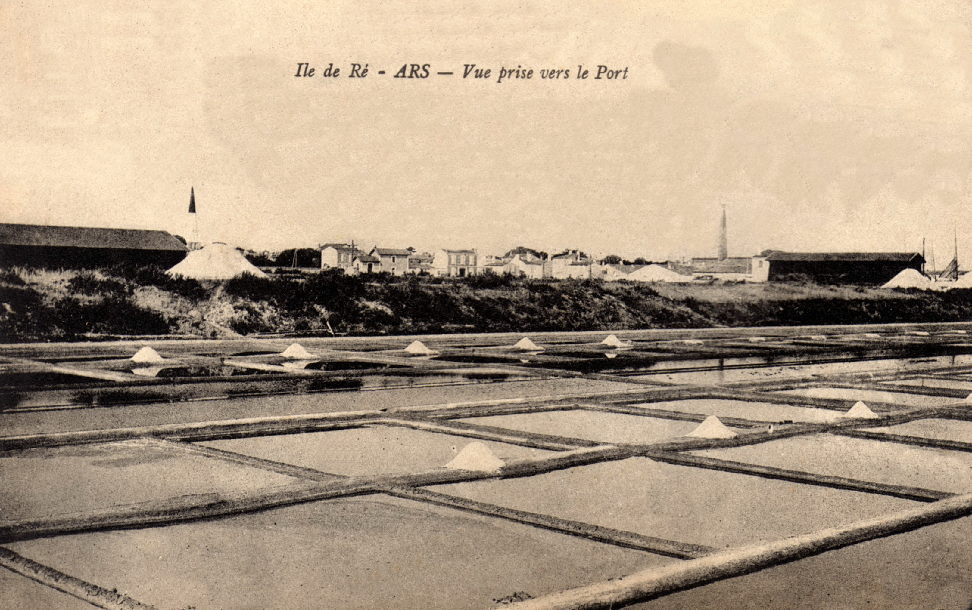 Photo des marais salants rétais en 1918