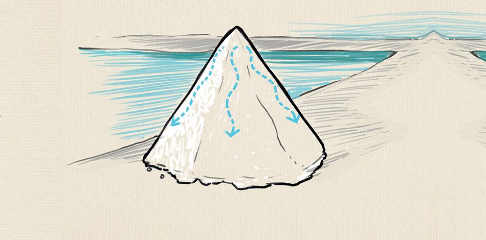 Séchage des pyramides de gros sel illustration