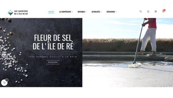 La Coopérative des Sauniers de l'Ile de Ré lance son nouveau site internet.
